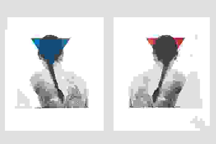 Othello (Triangle, Blue and Red), 2010